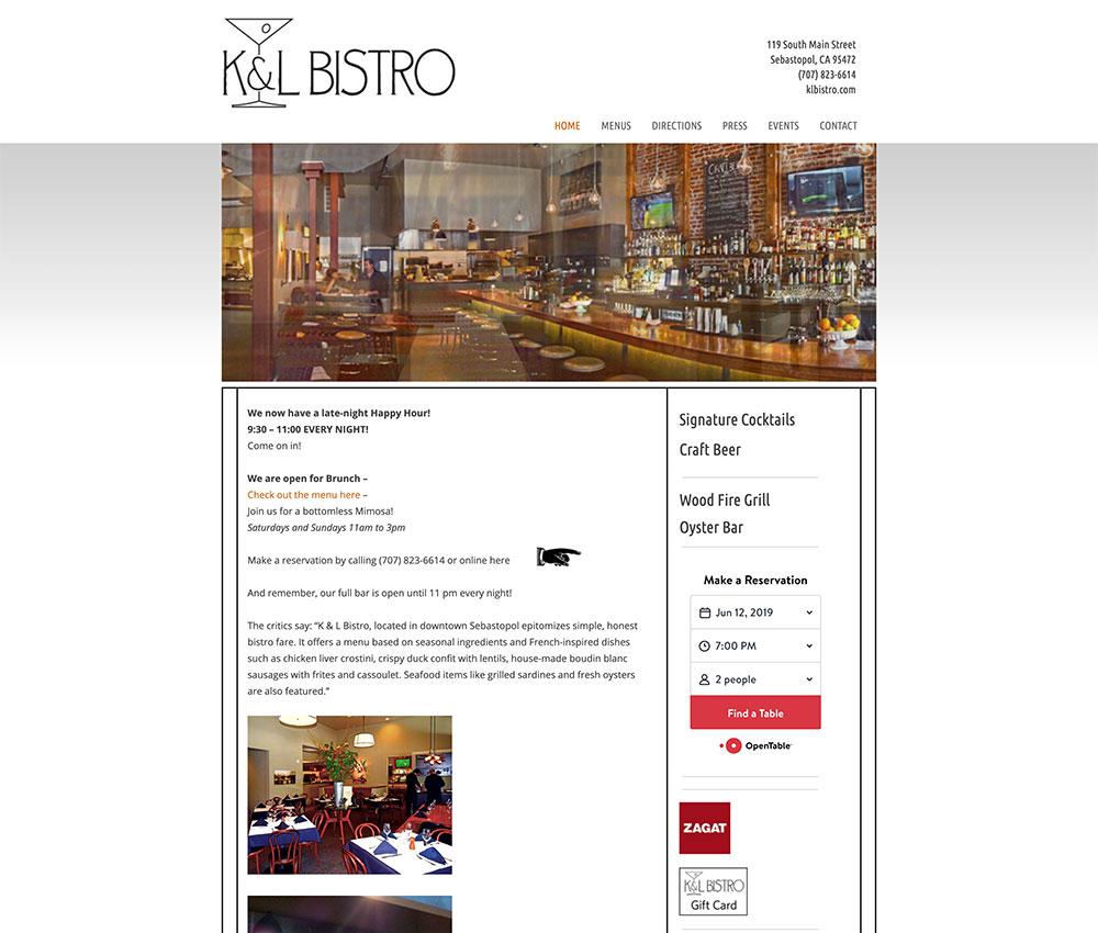 K&L Bistro Website