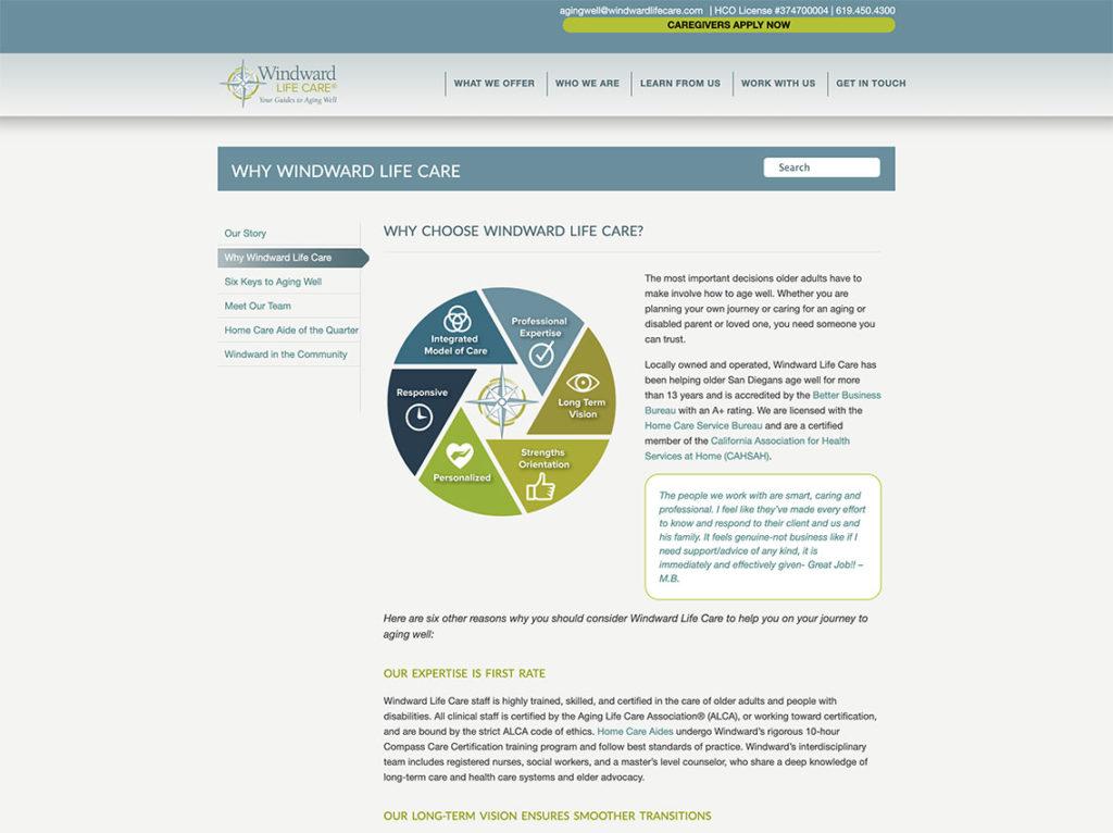 Windward Life Care website